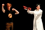Dr. Horrible finally freezes Captain Hammer in the stage adaptation of  Joss Whedon's Dr. Horrible's Sing-Along Blog